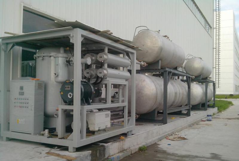 Oil dehydration plant